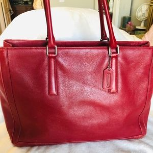 Coach candy apple red tote/business tote
